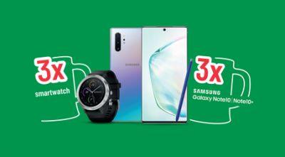 Câștigă 3 telefoane mobile Samsung Galaxy Note 10+