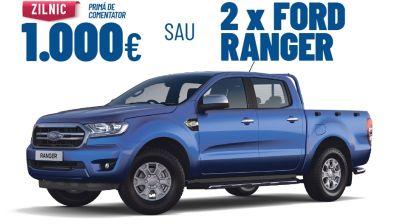 Câștigă 2 mașini Ford Ranger Double Cab XLT AWD 2.0L EcoBlue 170 CP