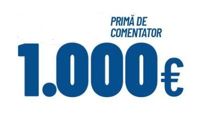 Câștigă 5 premii a câte 1.000 de euro fiecare