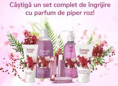 Câștigă un set complet de îngrijire cu parfum de piper roz