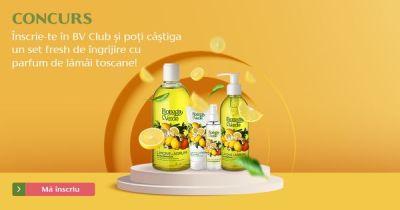 Câștigă un set de îngrijire cu parfum de lămâi toscane Bottega Verde