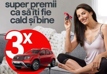 Câștigă 3 mașini Dacia Duster