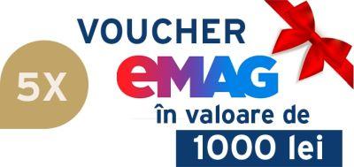 Câștigă 5 vouchere eMAG în valoare de 1.000 lei fiecare