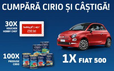 Câștigă o mașină Fiat 500 Pop