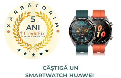 Câștigă 5 ceasuri inteligente Huawei GT