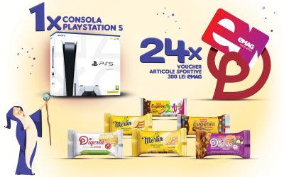Câștigă o consolă PlayStation 5 și 24 de vouchere eMAG în valoare de 300 lei fiecare