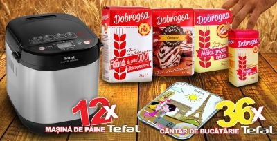 Câștigă 12 mașini de făcut pâine Tefal și 36 de cântare de bucătărie Tefal