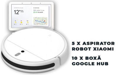 Câștigă 5 aspiratoare robot Xiaomi Mi Vacuum Mop Cleaner