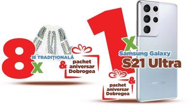 Câștigă un telefon mobil Samsung Galaxy S21 Ultra