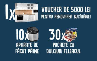 Câștigă un voucher eMAG de 5.000 lei pentru renovarea bucătăriei