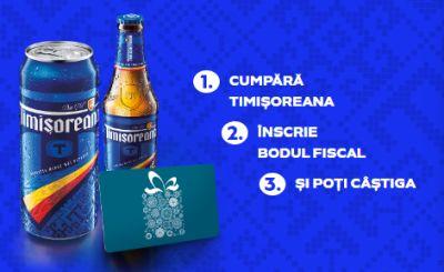 Concurs bere Timișoreana: câștigă 2.950 vouchere de cumpărături