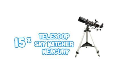 Câștigă 15 telescoape SkyWatcher Mercury
