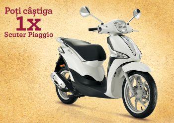Câștigă un scuter Piaggio