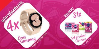 Câștigă 4 ceasuri Samsung Galaxy Watch 4