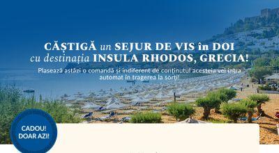 Câștigă o vacanță de vis în 2 pe insula Rhodos din Grecia