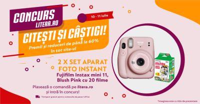 Câștigă 2 aparate foto Fujifilm Instax Mini 11