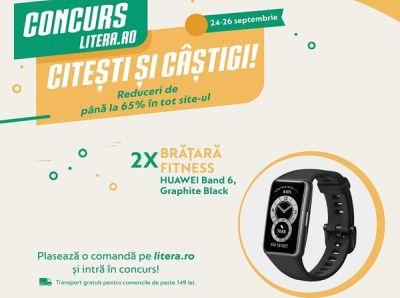 Câștigă 2 brățări de fitness Huawei Band 6