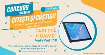 Câștigă o tabletă Huawei MatePad T10