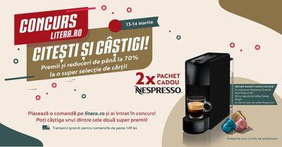 Câștigă 2 espressoare Nespresso Essenza Mini