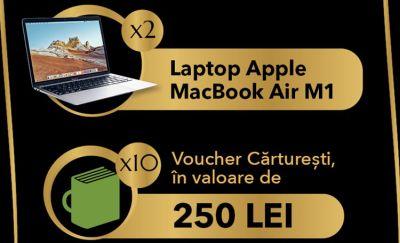 """Câștigă 2 laptopuri Apple MacBook Air 13"""" M1"""