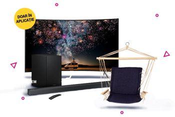 Câștigă un televizor curbat Samsung 4K Ultra HD 163 cm