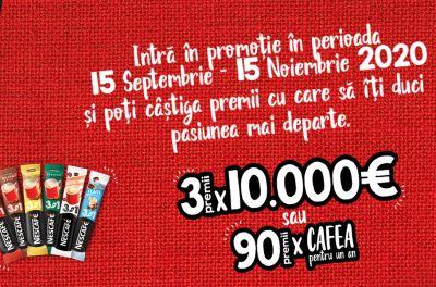 Câștigă 3 premii a câte 10.000 euro fiecare