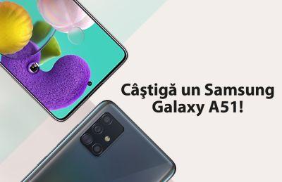 Câștigă un smartphone Samsung Galaxy A51