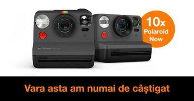 Câştigă 30 aparate foto instant Polaroid Now