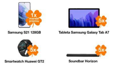 Câștigă un smartphone Samsung Galaxy S21 128GB