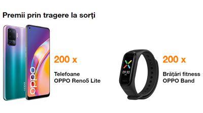 Câștigă 200 telefoane mobile OPPO Reno 5 Lite