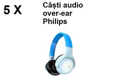 Câștigă 5 perechi de căști audio pentru copii Over-Ear Philips