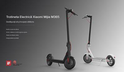 Câștigă 3 trotinete electrice Xiaomi M365