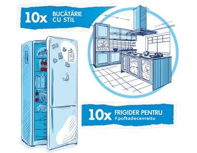 Câștigă 10 vouchere IKEA de 5.000 lei fiecare și 10 frigidere Beko