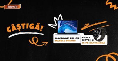 Câștigă un laptop Apple Macbook Air 13 256 GB