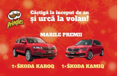 Câștigă 2 mașini Skoda: Skoda Karoq și Skoda Kamiq