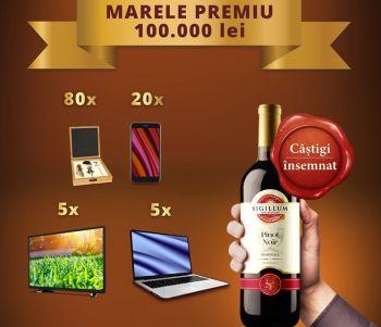 Câștigă 100.000 de lei cu un vin însemnat - Sigillum Moldaviae