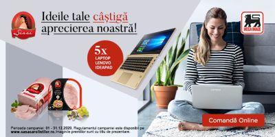 Câștigă 5 laptopuri Lenovo IdeaPad