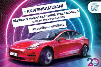 Câștigă o mașină electrică Tesla Model 3