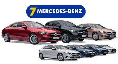 Câștigă 7 mașini Mercedes-Benz