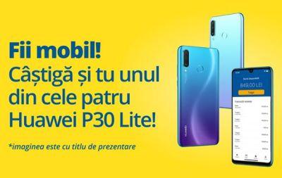 Câștigă 4 telefoane Huawei P30 Lite