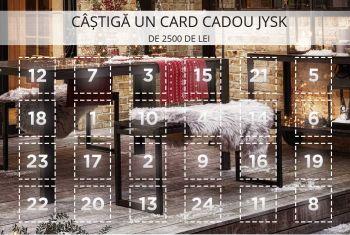 Câștigă un voucher JYSK în valoare de 2.500 de lei