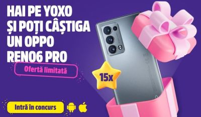 Câștigă 15 telefoane mobile Oppo Reno 6 Pro