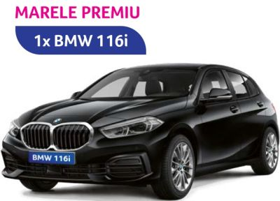 Câștigă o mașină BMW 116i