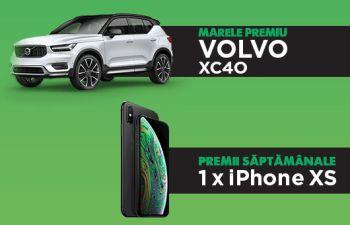 Câștigă o mașină Volvo XC40 și 11 iPhone XS