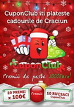 Castiga 20 x 100 euro si 10 rucsaci Cupon Club