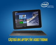 Castiga un laptop 2 in 1 Asus T100HA