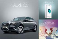 Castiga o masina Audi Q5, 2 vacante de lux in Elvetia si 5 smartphone iPhone 7
