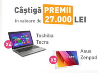 Castiga 4 laptopuri Toshiba Tecra si 5 tablete Asus ZenPad