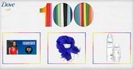Castiga 5 vouchere Fashion Days in valoare de 450 de lei, 5 esarfe Dove si 90 seturi de produse Dove Invisible Dry