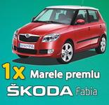 Castiga o masina Skoda Fabia, o excursie la Paris, 5 excursii in Romania, 100 vouchere de 200 lei si 60 de rucsaci